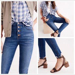 "MADEWELL 10"" High-Rise Skinny Jeans: Chewed Hem"